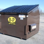 Six-yard container from dumpster rental company B-P Trucking, Inc. in Ashland, MA