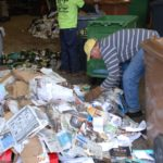 Waste materials sorted into piles at waste removal service B-P Trucking, Inc. in Ashland, MA