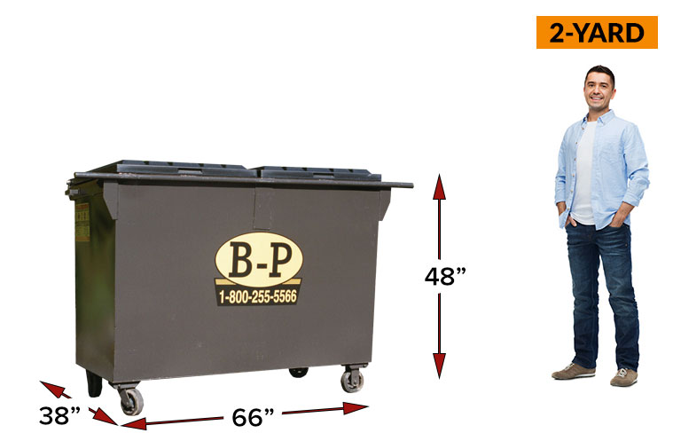 2 Yard Front Load Containers at B-P Trucking Inc