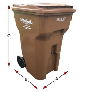 Residential waste carts in Ashland, MA