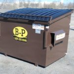 Four-yard container with lock bar from dumpster rental company B-P Trucking, Inc. in Ashland, MA