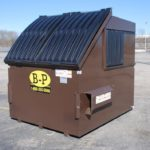 Ten-yard container from dumpster rental company B-P Trucking, Inc. in Ashland, MA
