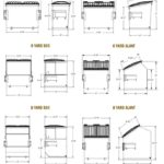 The front-load container specification chart by B-P Trucking Inc