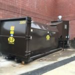 Self-contained compactors by B-P Trucking Inc installed at Whole Foods Westford