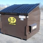 A six-yard front load container by B-P Trucking Inc