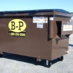 A two-yard container with wheels by B-P Trucking Inc